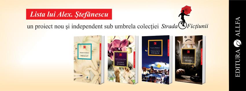 Banner Lista lui Alex. Stefanescu
