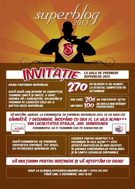 invitatie gala SuperBlog2013