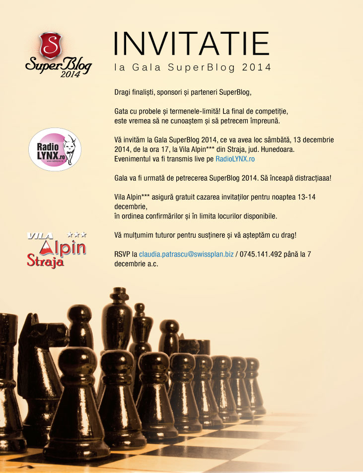 invitatie gala SuperBlog2014